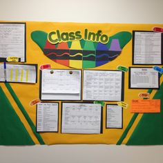 Crayon Classroom info board