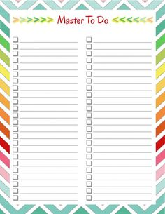 Free Organizing Printables #FreePrintables #Organize #Freebie #HomeManagement #Printables