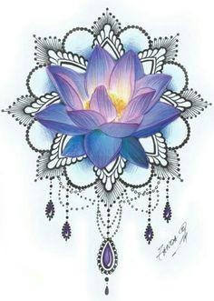 Best health benefits and uses of the lotus flower. The lotus flower is one of the most beautiful blossoms in the world. Lotusblume Tattoo, Lotus Tattoo, Cover Tattoo, Mandala Tattoo, Piercing Tattoo, Tattoo Drawings, Piercings, Lotus Mandala, Flower Mandala