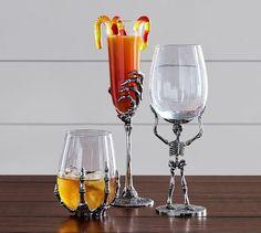 Skeleton Wine Glasses - ELLEDecor.com