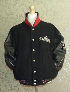 AVIREX Varsity Wool Jacket Leather Sleeves   Collar 3XL VTG Hip Hop Coat  Rare e3f4c8f2376
