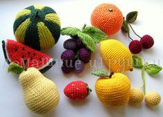 Gallery.ru / Фото #48 - Вязаные витамины (фрукты и овощи) - knitka