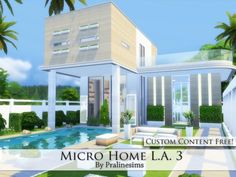The Sims Resource: Micro Home L.A. 3 by Pralinesims • Sims 4 Downloads