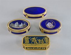 Snuff boxes.