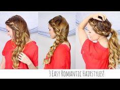 3 Peinados fáciles y románticos