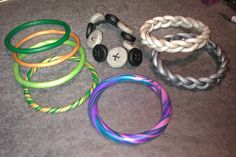 Polymer clay bracelets