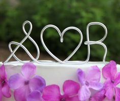 Wire wedding topper - just like the cute personalized wire wedding hangers!
