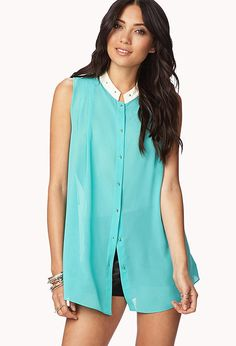 Contemporary Pretty-Tough Georgette Tunic
