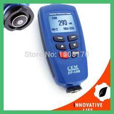DT-156 Paint Coating Thickness Gauge Digital Meter 0~1250um USB Cable CD Software Magnetic Induction / Eddy Current Probe Tester