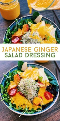 If you never tried Japanese Ginger Salad Dressing, you are missing out. Sweet, savory, refreshing, tangy, and super umami is the salad dressing you will love! Asian Noodle Recipes, Healthy Asian Recipes, Asian Chicken Recipes, Vegetarian Recipes, Authentic Chinese Recipes, Easy Chinese Recipes, Japanese Ginger Dressing, Ginger Salad Dressings, Easy Meals