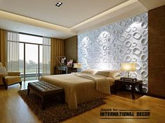 Decorative wall panels in the interior, latest trends