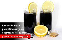 Limonada negra para eliminar gases, desintoxicar el cuerpo y tener un vientre plano