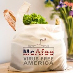 McAfee - Virus Free America Reusable Shopping Bag