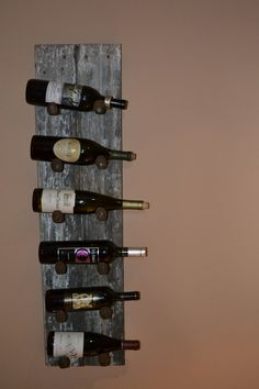 probably easy to make Barn Wood Wine Rack.... can make with old fence boards we have! Live by the tains for a reason... lol