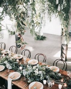 WEBSTA @ ruffledblog - worried about rain on your wedding day? this lush #tablescape might just inspire you to bring the outdoors in! | event design @thestyleco ...#weddinginspiration #weddinginspo #weddingdesign #floraldesign #florals #garlands #weddingflowers #lush #greenery #greenwedding #miamiwedding #naturalwedding #natural #organic #ohwowyes #flashesofdelight #postitfortheaesthetic #ido