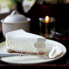 Vanilla Bean Cheesecake  with Walnut Crust  Walnuts instead of a biscuit base....sounds gooooood!
