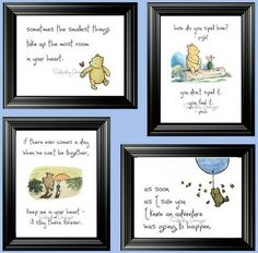 Winnie The Pooh Nursery, Winnie The Pooh Quotes, Baby Quotes, Quotes Quotes, Girl Quotes, Disney Nursery, Tattoo Quotes, Winnie Pooh Kindergarten, Nursery Quotes