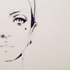 Sketch face 2013 #illustration #ekaterinakoroleva #sketch #pencil #portrait