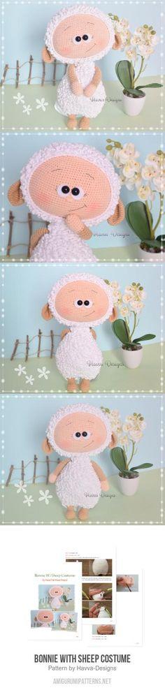 Bonnie With Sheep Costume amigurumi pattern