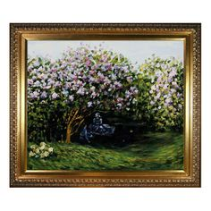 Resting Under the Lilacs by Monet Framed Reproduction at Joss & Main