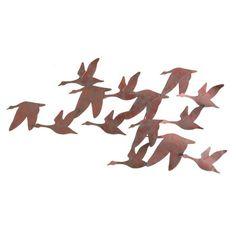 Flock of Geese Metal Wall Sculpture