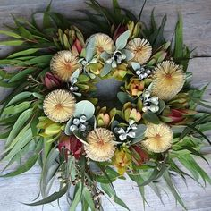 Anzac day wreath by RANE flowers Flower Wreaths, Floral Wreath, Anzac Day, Nativity, Flowers, Home Decor, Flower Crowns, Christmas Nativity, Decoration Home