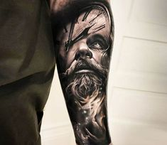 Father Time tattoo by Arlo Tattoos