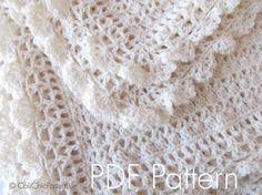 Crochet Blanket PATTERN 89 - Victorian Series - Crochet Baby Blanket PATTERN 89 - Crochet Symbol Pattern - Instant Download PDF