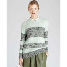Reiss Sweater - Bebe Crazy Stripe ($147) found on Polyvore