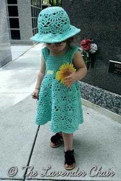 Lacy Shells Dress Crochet Pattern ~ **Free Crochet Pattern for dress & hat** ~W~