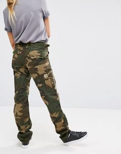 Carhartt WIP Oversized Aviation Trousers In Camo Print 59bf07a0ac82