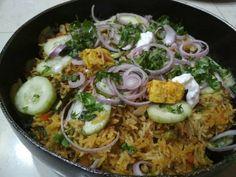 Paneer biryani recipe | how to prepare paneer biryani
