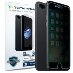 Make sure your passwords and private information stays with you when using your iPhone 7 Plus! Use our 4-Way Privacy Screen Protector!