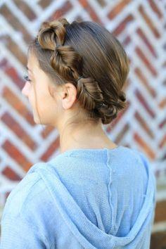Faux Fishtail Braided Crown | Cute Girls Hairstyles