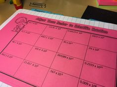 Check out the break down of my whole scientific notation unit for interactive notebooks in this post! Includes foldables, guided practice, I Can statements for learning objectives, and more! Reading Notebooks, Math Notebooks, Teaching Themes, Teaching Tools, Free Math, Math 8, Interactive Student Notebooks, Scientific Notation, I Can Statements