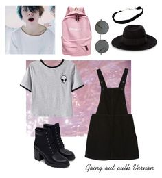 """""""Going out with Vernon"""" by supwren ❤ liked on Polyvore featuring Monki, Chicnova Fashion, Maison Michel and Zara"""