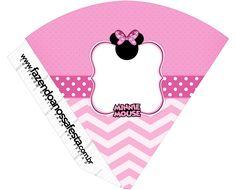Pretty Minnie in Pink: Free Party Printables. Girl Birthday Themes, Minnie Birthday, Kids Party Themes, Minnie Mouse Party, Birthday Party Decorations, Mickey Mouse, Party Ideas, Pink Parties, Mouse Parties