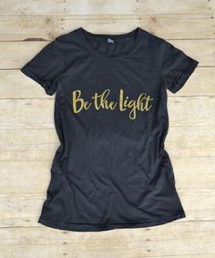 Be the Light Distressed Tee