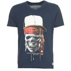 T-shirts+korte+mouwen+Jack+&+Jones+SKUNNY+blauw+11.96+€