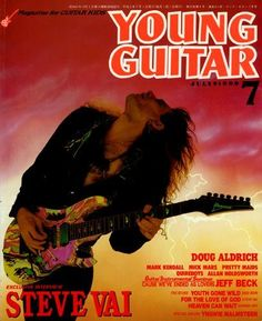 Magazine photos featuring Steve Vai on the cover. Steve Vai magazine cover photos, back issues and newstand editions. Young Guitar, List Of Magazines, Heaven Can Wait, Mick Mars, Guitar Magazine, Steve Vai, Jeff Beck, Best Guitarist, Guitar Strings