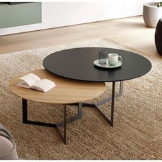 auxiliares - Muebles auxiliares -Muebles auxiliares - Muebles auxiliares - Choosing a coffee table can be maddening. Prices can be so distorted as to be laughable. When you do find … Fancy - Eclipse Table Couchtisch Mumma Norden Home Couchtisch Cool Coffee Tables, Round Coffee Table, Decorating Coffee Tables, Coffee Table Design, Modern Coffee Tables, Round Dining, Modern Table, Dining Table, Table Furniture