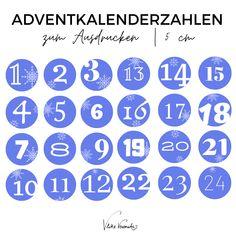 Herunterladen, Ausdrucken, Losbasteln. So einfach geht das mit VlikeVeronika.com Freebie-Time: Drucke Dir die Adventskalenderzahlen in sechs verschiedenen Farben aus und klebe sie auf Butterbrottüten oder Kuverts, um im Handumdrehen Deinen eigenen Adventkalender zu haben.
