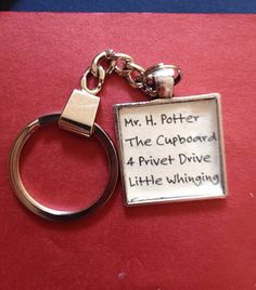 Hey, I found this really awesome Etsy listing at https://www.etsy.com/listing/200683586/harry-potter-cupboard-address-keychain