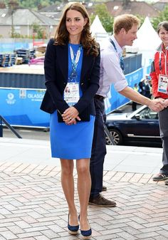 Kate Middleton recycles cobalt blue Stella McCartney for Commonwealth Games in Glasgow