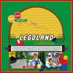 Legoland California digital scrapbook  layout by Jlynn using Play  Well - Melidy Designs