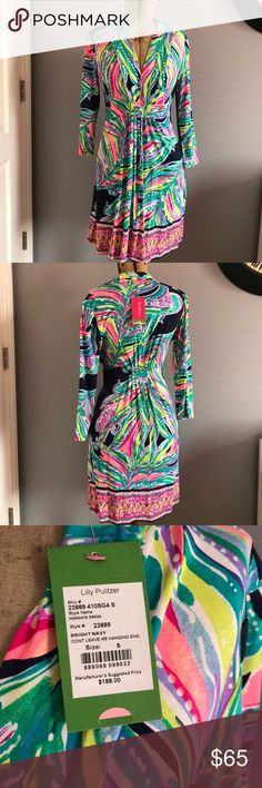 NWT Lilly Pulitzer Margate dress Brand new never worn don't leave me hanging print Lilly Pulitzer Dresses
