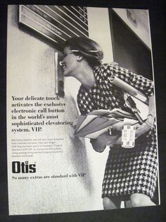 An old funny advertisement from Otis elevators