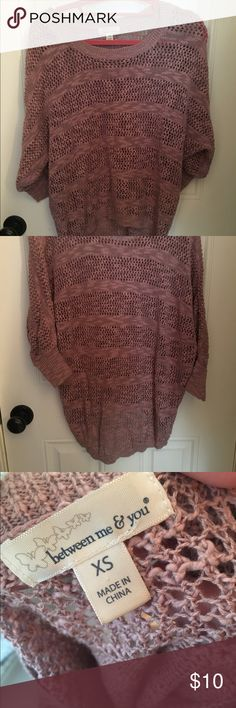 Soft Knitted Sweater Dusty pink knitted sweater  Shorter in the front, longer in the back  In great condition! (Brand for exposure) Urban Outfitters Sweaters Crew & Scoop Necks