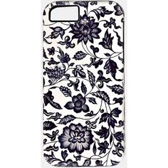 Vintage Blue Flowers Iphone 5/5s Hybrid Case (€7,21) ❤ liked on Polyvore featuring accessories, tech accessories, phone cases, phones, cases, iphone cases, blue, vintage iphone case, apple iphone cases and iphone cover case