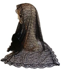 Black Floral Lace Mantilla would be nice for easter
